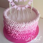 Round Frosted Frill Cake