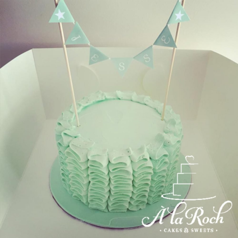 "6"" Round Frosted Ruffle Cake"