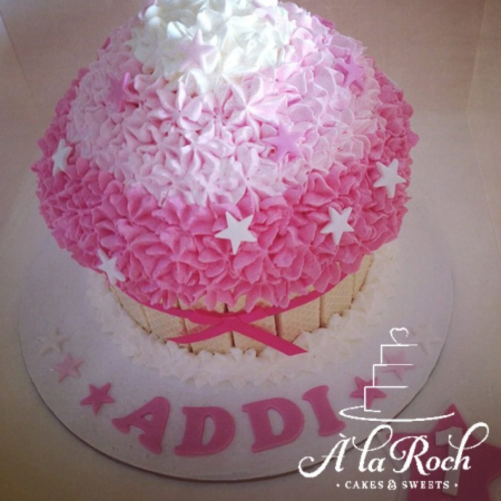 Star Ombre Giant Cupcake