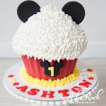 Mickey Mouse giant cupcake. Photo taken by Nicole Butler Photography