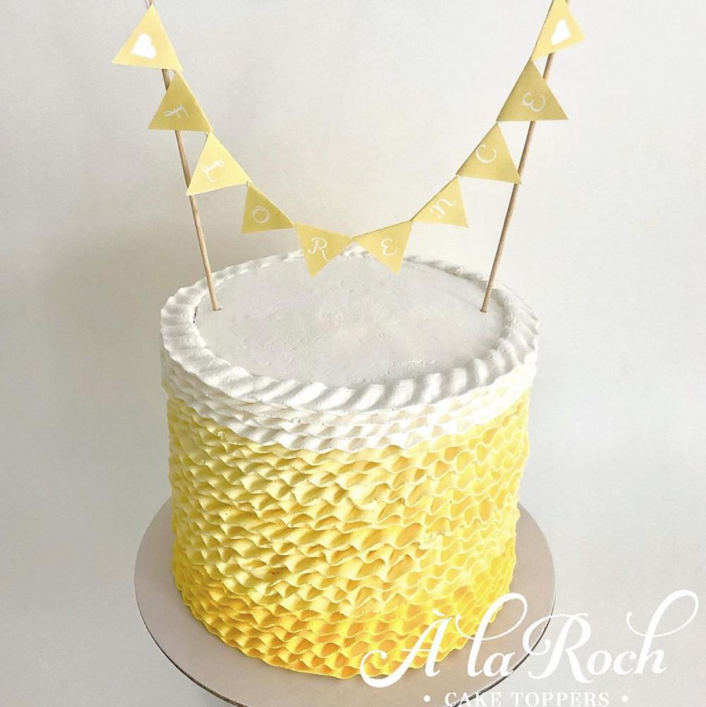 Ombre Frill Cake Newcastle Cake Decorator