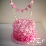 Rosette Ombre Cake Newcastle Cake Smash