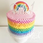 A la Roch Rainbow Frill Cake
