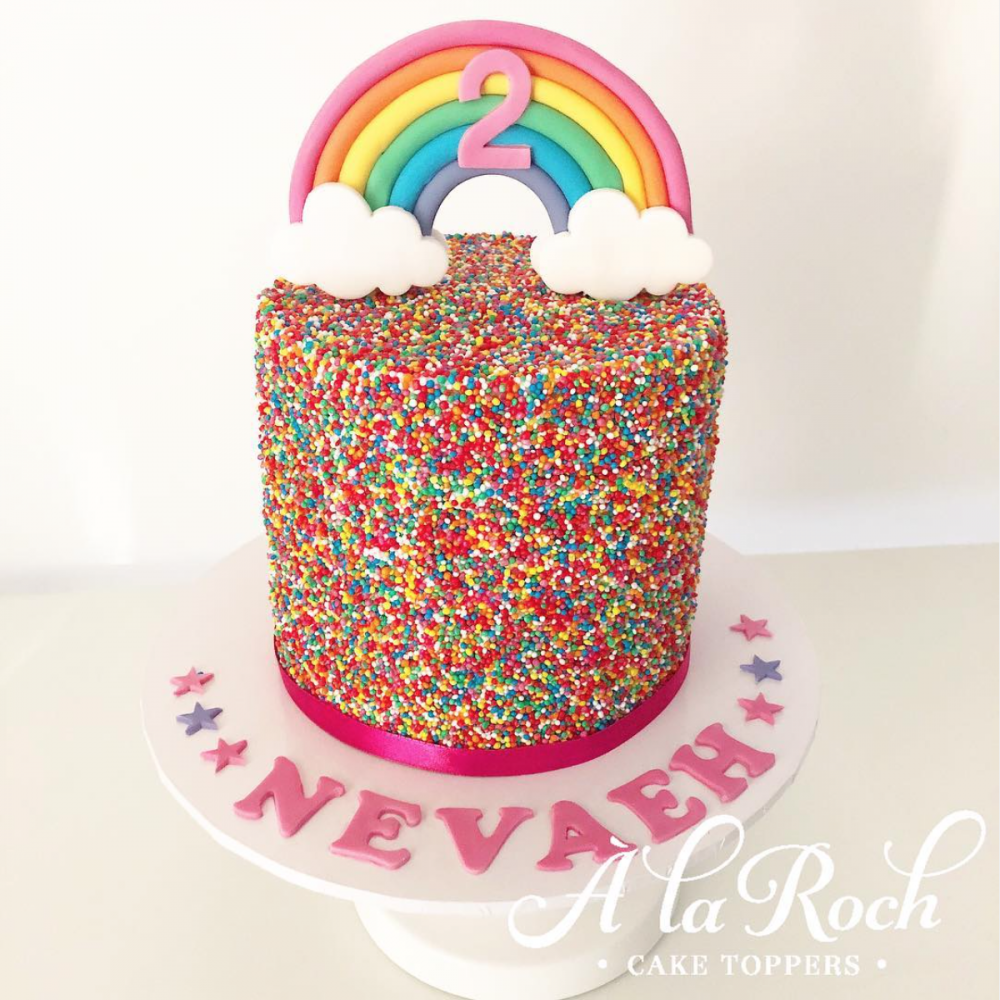 Sprinkle Cake With rainbow Newcastle Cake Decorator