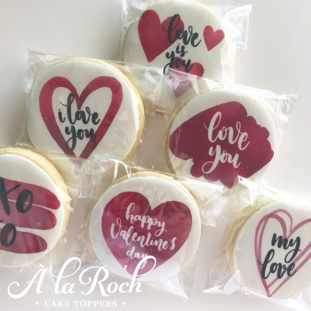 Celebration Edible Image Valentines Day Sugar Cookies