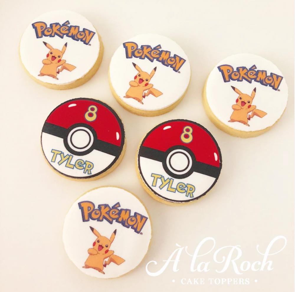 Pokemon Edible Image Kids Sugar Cookies