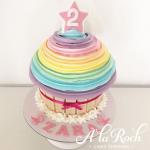 Rainbow Swirl Giant Cupcake