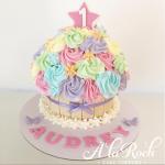 Rainbow Rosette Giant Cupcake Newcastle Cake Decorator